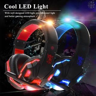 Tai nghe chụp tai có đèn Led USB 3.5mm tích hợp micro dành cho chơi game trên máy tính laptop