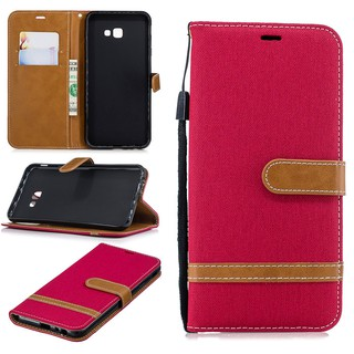 For Samsung Galaxy J4 Plus clamshell denim holster