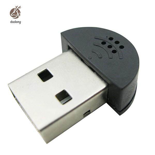 Fashion Portable Mini USB Microphone For Laptop Desktop PC Skype Voice Recognition Software Computer