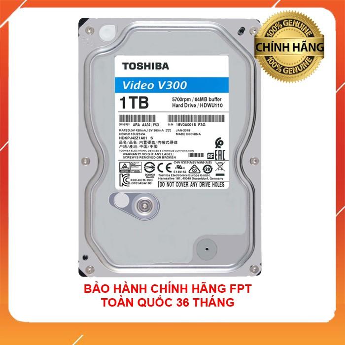 [Mã NOWSHIPVUI3 giảm 25k đơn 50k] Ổ cứng 1TB TOSHIBA chuyên Camera và lưu trữ bảo hành FPT 36 tháng