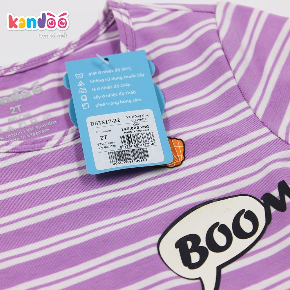 Áo T-shirt bé gái KANDOO màu tím, in hình đáng yêu thoải mái hoạt động, 100% cotton cao cấp mềm mịn, thoáng mát-DGTS1722