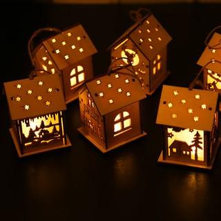 Phụ Kiện Trang Trí Giáng Sinh Hình Ngôi Nhà Gỗ