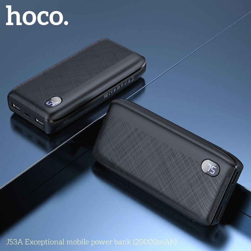 Sạc dự phòng Hoco J53A chính hãng dung lượng 20.000 mAh bảo hành 1 năm