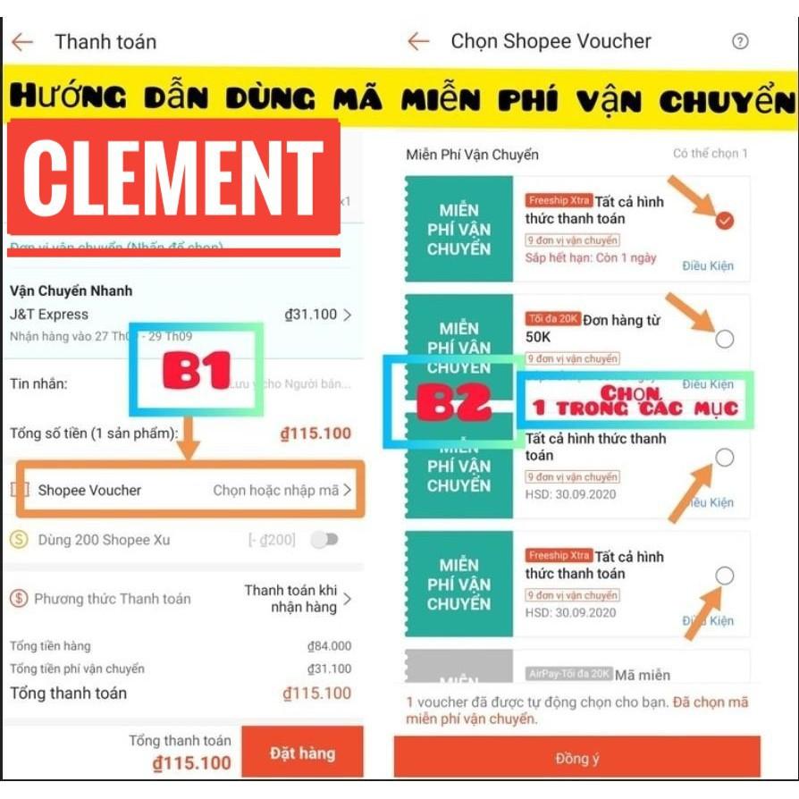 [DA BÒ THẬT] Ví da thời trang Clément kiểu đứng – CM004 - BH 12 tháng - Full box