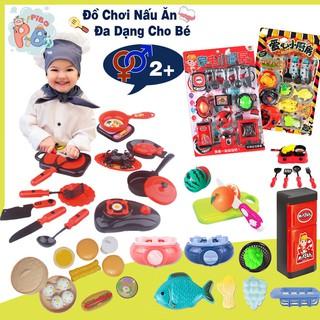 Đồ Chơi Nấu Ăn Dụng Cụ Nhà Bếp Nồi Cơm, Tủ Lạnh, Xoong Nồi Đa Dạng Siêu Ngộ Nghĩnh Cho Bé Yêu - Pibo Store thumbnail