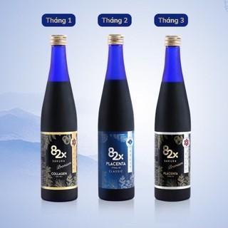 COMBO 3 Chai 82X PLACENTA 82x ClASSIC + SA PLACENTA + COLLAGEN 82X SAKURA Nước Uống Đẹp Da Từ Nhật Bản thumbnail