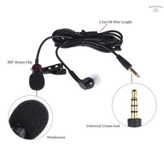 Tai nghe tích hợp mic có móc kẹp cổ áo có đầu cắm 3.5mm tiện dụng