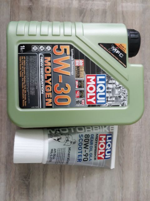 Combo nhớt máy Liqui Moly Gen 5W30 1L và Nhớt lap Liqui Moly Gear 80W90 150ml