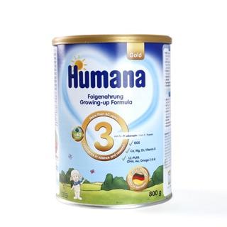 Sữa bột Humana loại số 3 cho trẻ hũ 800gr (Date 2021- Hàng công ty)