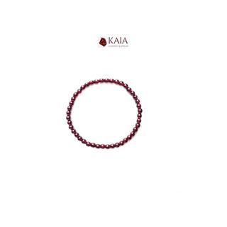 KAIA - Vòng tay phong thủy Garnet 4 - 5 li - Ngọc Hồng Lựu biểu tượng của tình yêu thumbnail