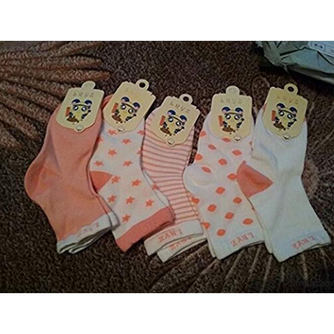 Set 5 cặp vớ cotton hình ngôi sao xinh xắn dành cho bé