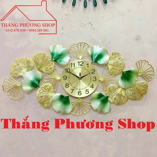 Đồng Hồ Trang Trí Lá Sen TP-001G (Tặng Máy Đồng Hồ Thay Thế)