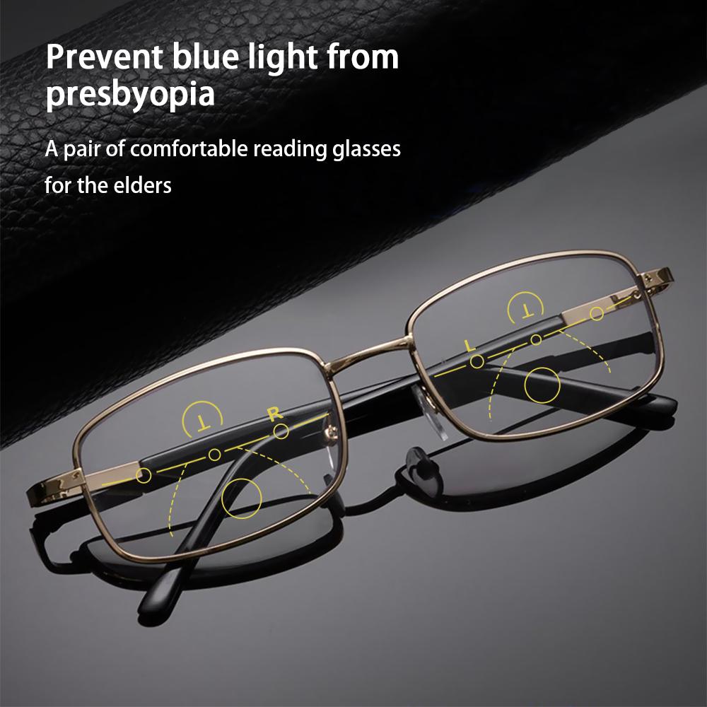 NEONY Anti-fatigue Anti Blue Light Reading Glasses Radiation Protection Multifocal Bifocal Eyewear Progressive Presbyopic Eyeglasses Anti-UV Men Women Fashion Anti-blue...