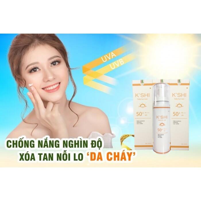 [ƯU ĐÃI SỐC] Kem Chống Nắng Bảo Vệ Và Dưỡng Trắng Da K'SHI Daily Sun Care 60ml SPF 50+ PA+++