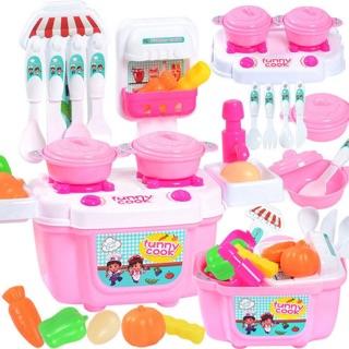 [Nhập TOYMAR giảm 10%] [CHỈ CÒN MÀU XANH] Bộ đồ chơi nấu ăn nhà bếp dành cho bé