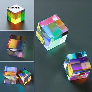 ♕Optical Glass X-cube Dichroic Cube Prism RGB Combiner Splitter Educational Gift