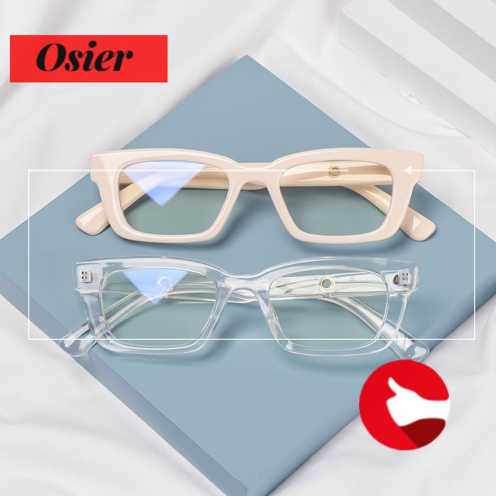 👒OSIER🍂 Men Women Anti-blue Light Glasses Blue Light Blocking Computer Goggles Square Frame Eyewear Vision Care Fashion Radiation Protection Retro Classic Vintage Eyeglasses/Multicolor