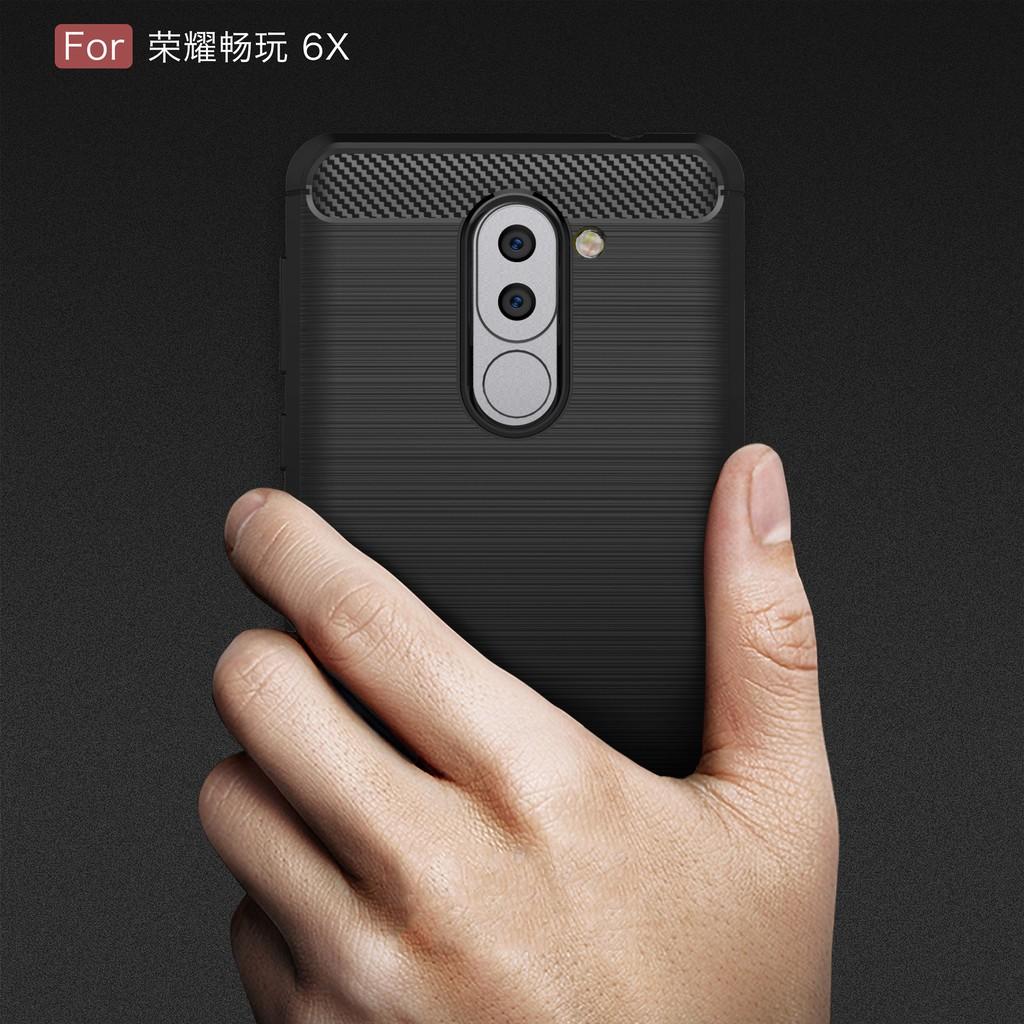 Ốp điện thoại Huawei Honor 6X/GR5 2017/Mate 9 Lite bằng silicon TPU kiểu dáng đơn giản độc đáo