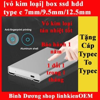 [Tặng cáp type c to type c] box ssd type c 7.5m/9.5mm/12.5mm(USB 3.1 gen 2)