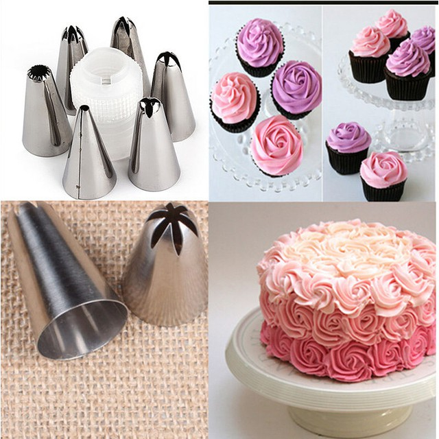 6 đui bắt kem kèm chốt Mẫu 2 Set Flower Shape Cake Nozzle Stainless Steel Decoration Decorator Cupcake ( sẵn ) - 22313141 , 860254970 , 322_860254970 , 36000 , 6-dui-bat-kem-kem-chot-Mau-2-Set-Flower-Shape-Cake-Nozzle-Stainless-Steel-Decoration-Decorator-Cupcake-san--322_860254970 , shopee.vn , 6 đui bắt kem kèm chốt Mẫu 2 Set Flower Shape Cake Nozzle Stainless