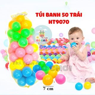Bóng cho bé túi lưới 50 bóng 7cm HT9070 - Đồ khuyến mãi giá tốt thumbnail