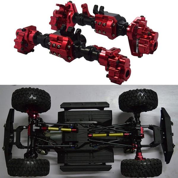 2PCS/Set Aluminum Front Rear Portal Axles Housing for Traxxas TRX-4 Crawler