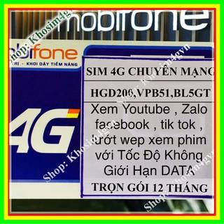 [SIM DATA 4G] 1 năm không nạp – sim data- thả ga 4G-chuyên mạng