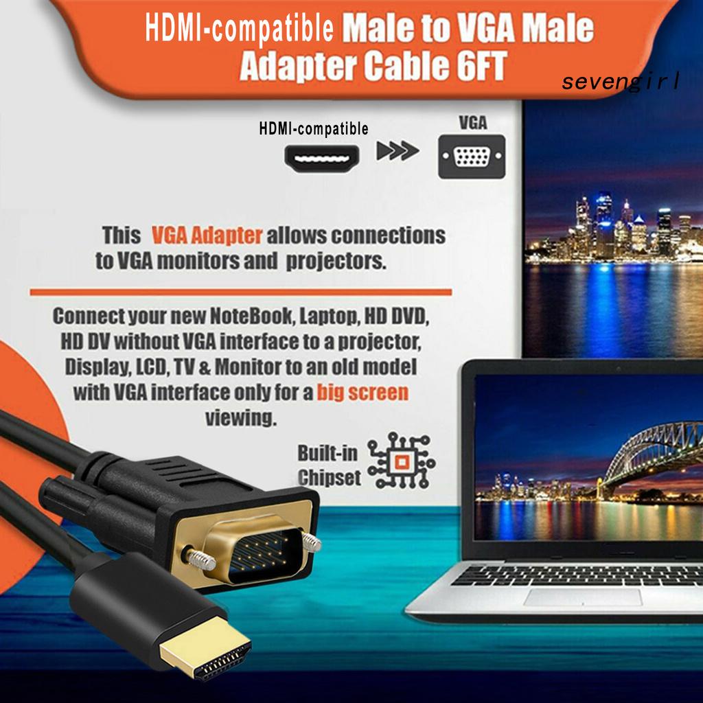 Cáp Chuyển Đổi Từ Sev-1080P Hdmi-Compatible Sang Vga