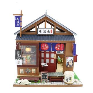 Mô hình nhà búp bê gỗ – tửu quán Izakaya Nhật Bản truyền thống (đủ Mica che bụi + thêm keo silicone)