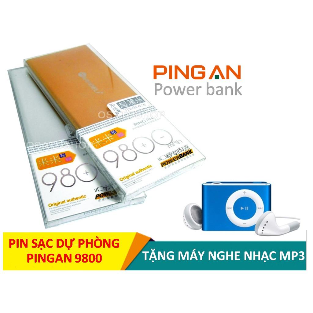 Pin sạc dự phòng PINGAN 9800 vỏ kim loại + Tặng máy nghe nhạc MP3 (Mầu ngẫu nhiên) - 3342765 , 1270678889 , 322_1270678889 , 155000 , Pin-sac-du-phong-PINGAN-9800-vo-kim-loai-Tang-may-nghe-nhac-MP3-Mau-ngau-nhien-322_1270678889 , shopee.vn , Pin sạc dự phòng PINGAN 9800 vỏ kim loại + Tặng máy nghe nhạc MP3 (Mầu ngẫu nhiên)