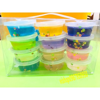 đồ chơi slime hoa quả hộp to – slime mềm dẻo mã OHY10 T2198