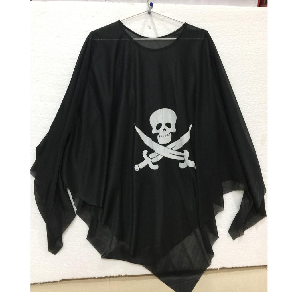 Áo đầu lâu xương chéo hóa trang Halloween dài 95cm dành cho các bé từ 4-8 tuổi