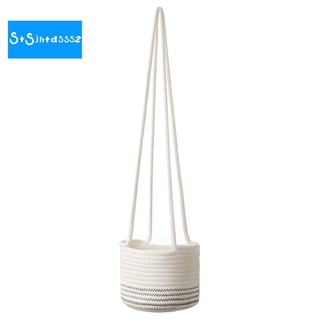 Cotton Rope Hanging Planter Woven Plant Basket Indoor Pot Macrame Plant Hangers ern Storage Organizer Home Decor