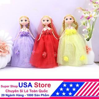 VINSKY20K Công Chúa Váy Cưới Hàn Quốc 25cm 5 Bông Hoa (Mẫu Ngẫu Nhiên) BMBE1073 VinSkyS