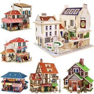 Mô hình gỗ lắp ghép các ngôi nhà trên thế giới DIY Robotime