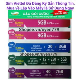 Sim Viettel Kích Hoạt Sẵn.Miễn Phí Gọi Nội Mạng và Lên Mạng Internet 4G Tốc Đô cao.Với Nhiều Khuyễn Mãi Ưu Đãi.