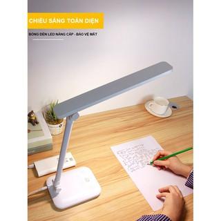 Đèn Bàn Học Đọc Sách, Làm Việc (Học Sinh, Sinh Viên, Văn Phòng) LED Chống Cận, Cảm Ứng Tích Điện Gập 2 Chỗ - hình 1