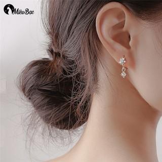 Khuyên tai nữ MIÊU BẠC butterfly white phong cách thời trang Ulzzang Unisex - B400421