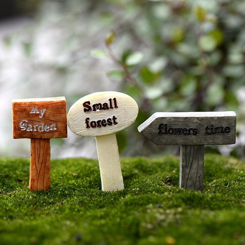 delicatelife3 Pcs Resin Crafts Figurines Micro Landscape DIY Toy Fairy Garden Miniatures