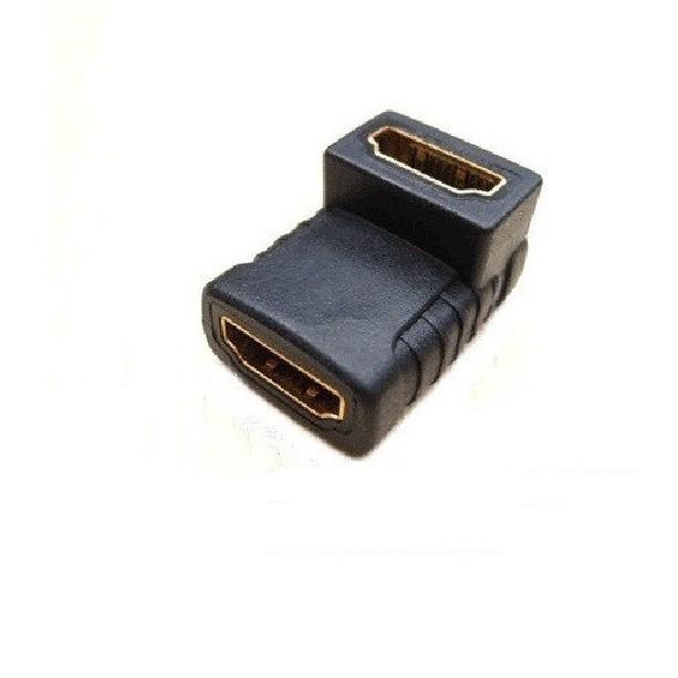 Đầu nối HDMI đổi góc 90 độ 2 đầu âm -dc770
