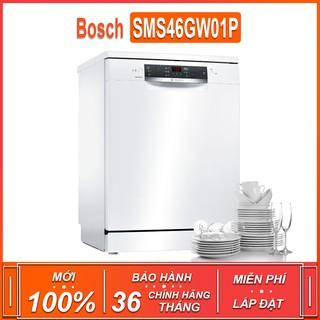 Máy rửa bát độc lập Bosch SMS46GW01P TGB – Seri 4 , dung tích rửa 12 bộ ( Xuất sứ Ba Lan – Bảo hành 36 tháng )