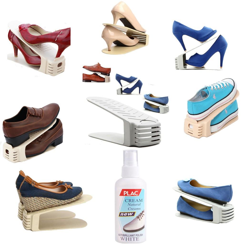 [150k] Combo 8 Kệ Để Giày Nhựa Tặng 1 chai vệ sinh giày dép túi da