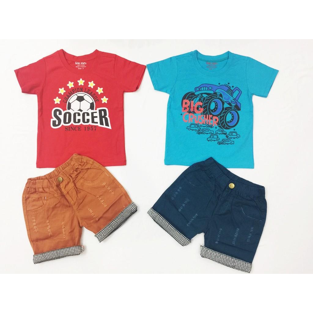 Combo 2 bộ áo thun quần kaki cho bé trai 8-20kg - 2512409 , 1022211272 , 322_1022211272 , 240000 , Combo-2-bo-ao-thun-quan-kaki-cho-be-trai-8-20kg-322_1022211272 , shopee.vn , Combo 2 bộ áo thun quần kaki cho bé trai 8-20kg