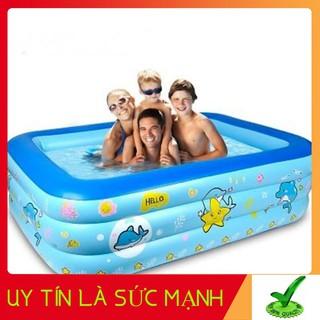 [HOT] Bể bơi phao 3 tầng cho bé [Size 160/150/130/120 cm] – Tặng