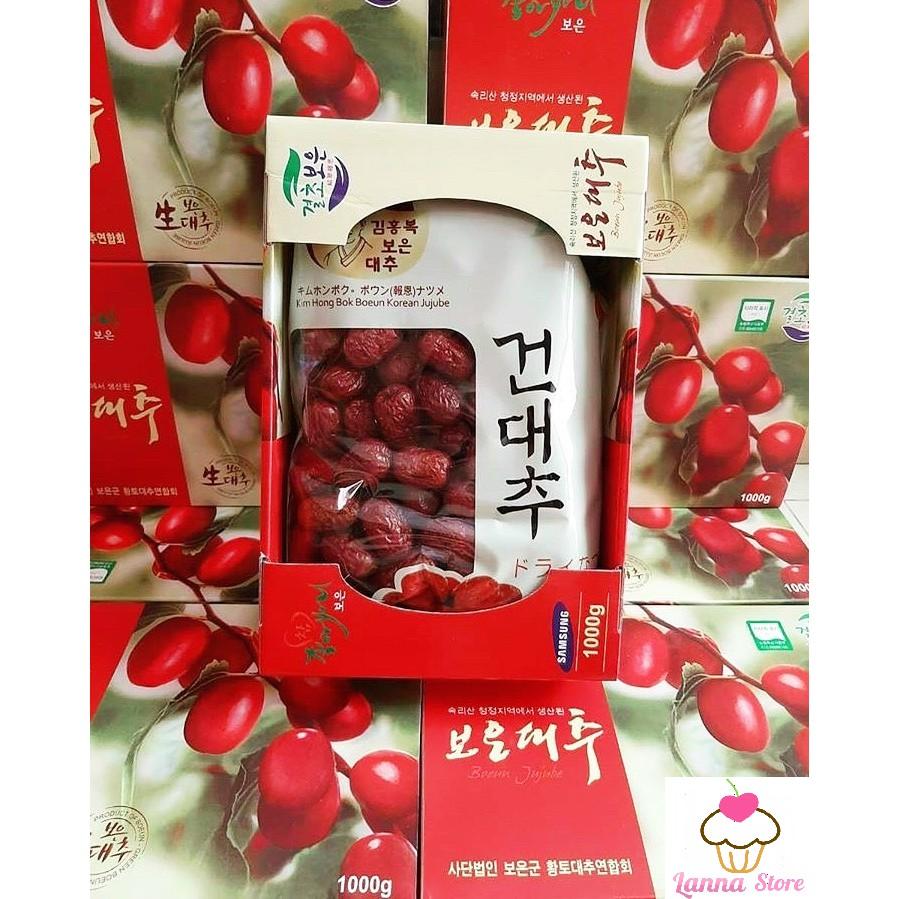 [Quà Tết] Táo Đỏ Sấy Khô Hàn Quốc Hộp 1KG có kèm túi xách