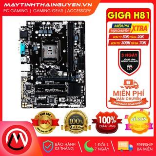 Mainboard Giga H81 (rev. 3.0) Socket 1150 [Full tụ vàng] (Qua sử dụng)