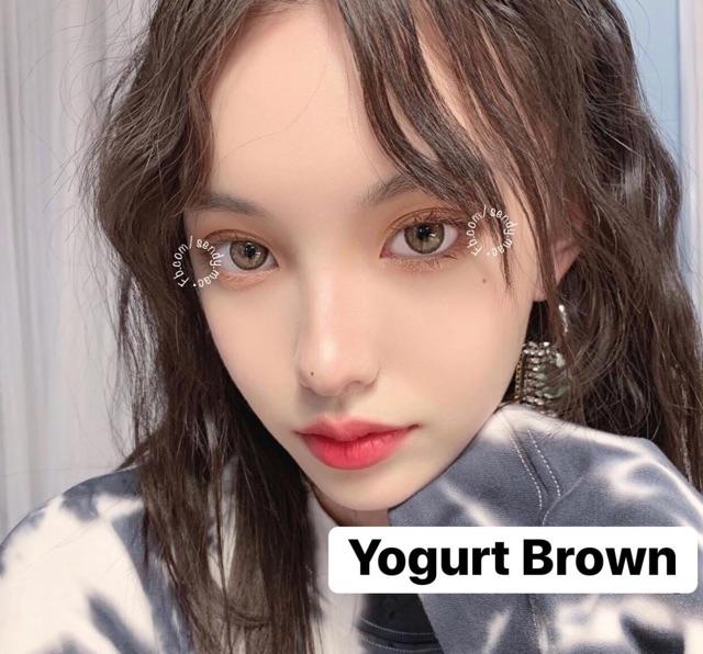 [Kính Áp Tròng] Yogurt Brown