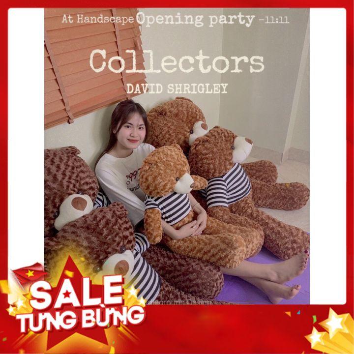 Gấu Bông Teddy 0,95m-1m1-1m3 Gấu Bông To, Gối Ôm Hình Thú Teddy Nâu Bự Khổng Lồ Siêu Đáng Yêu – GB06