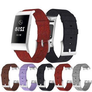 Dây Đeo Denim Nylon Canvas cho Fitbit Charge 3