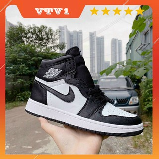 [panda cao cổ] giày thể thao cao cổ đen trắng dành cho nam nữ thumbnail